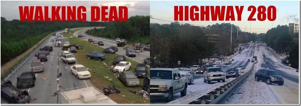 walking dead vs hwy 280