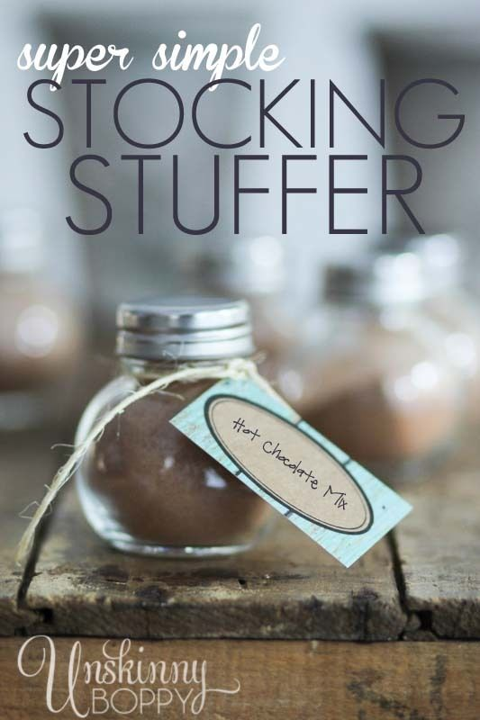 Homemade Hot Chocolate Stocking Stuffers