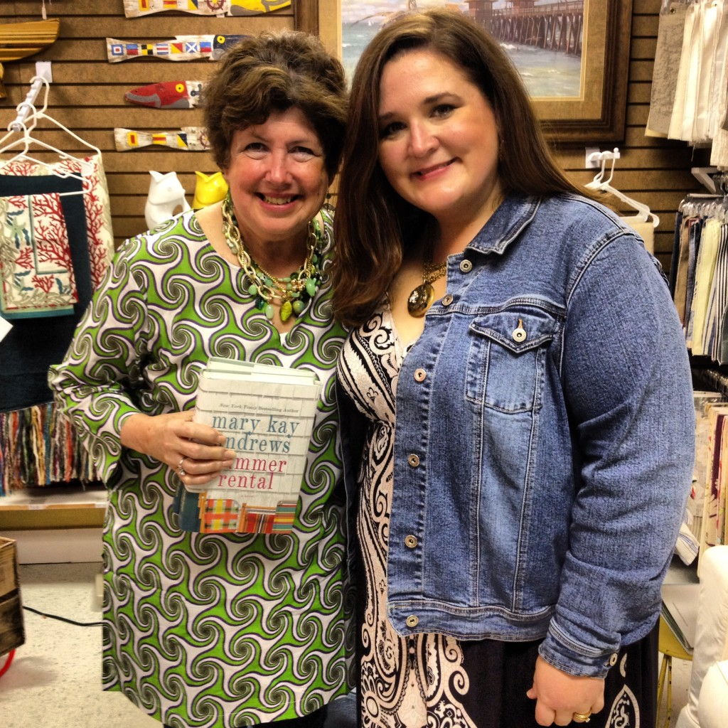 While on my vacation in Tybee Island, Georgia, I got to meet the amazing Mary Kay Andrews!