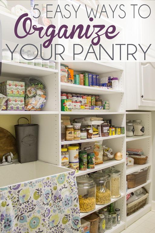 Five Easy Ways To Organize Your Pantry Unskinny Boppy
