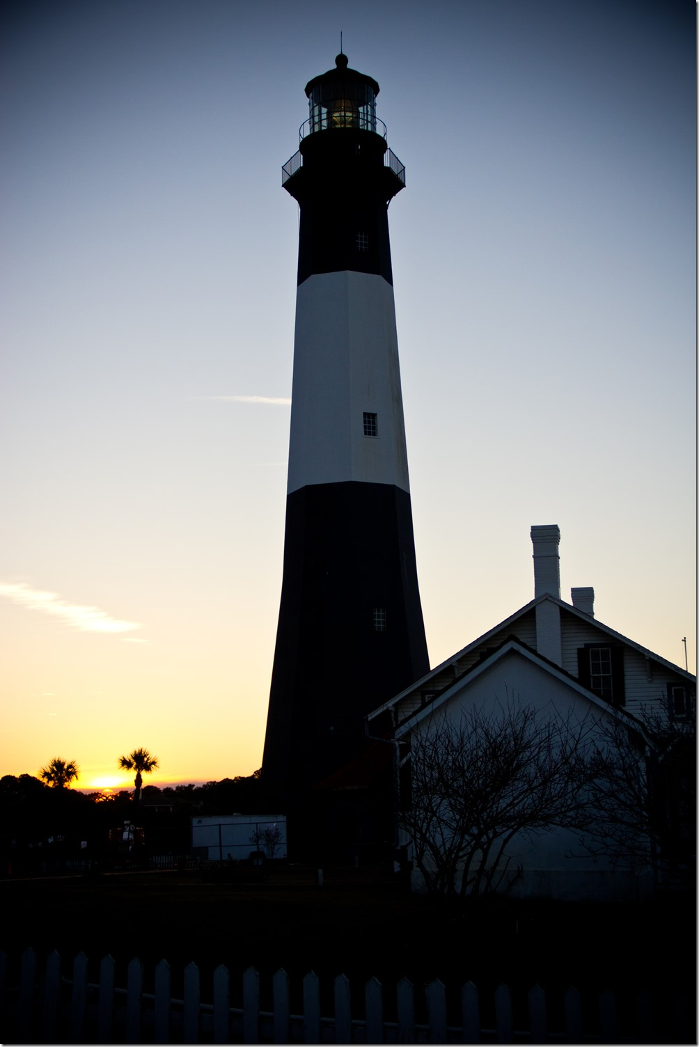 Don't miss the chance to take gorgeous photographs of all the amazing scenery on your Tybee Island Georgia Vacation, like this stunning lighthouse at sunset.