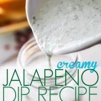 Chuys copycat Creamy Jalapeno Dip recipe