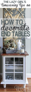 How to Decorate End Tables
