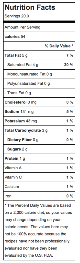 chuys dip nutrition
