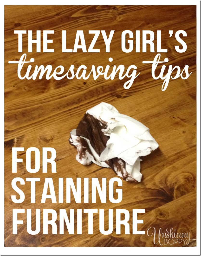 TIPS FOR STAINING WOOD - here are my favorite easy tips for staining wood! Next time you have a DIY project, don't shy away from the scary stuff. These tips make staining wood super easy and FUN!