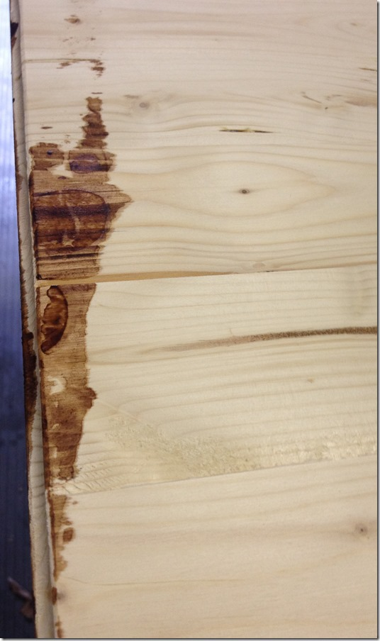 Timesaving Tips for Staining Wood Furniture (5 of 9) - don't worry if your stain drips and bleeds on the underside - this is an easy fix in your next step!