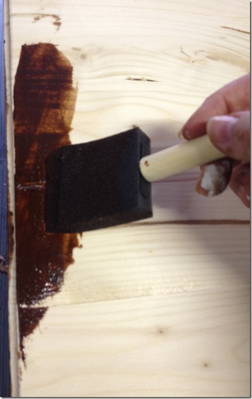 Timesaving Tips for Staining Wood Furniture (6 of 9) - take care of those bleeds by adding soe more stain and using a circular motion to coax the bleed to smooth out.