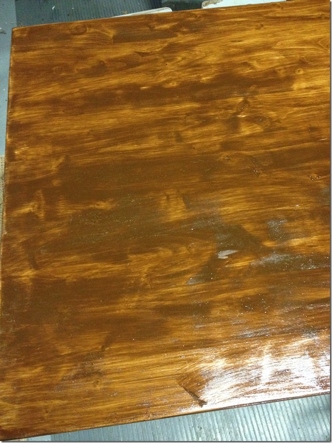 Timesaving Tips for Staining Wood Furniture (8 of 9) - the first coat of stain should be put on thick and heavy! Don't shy away, it'll help in getting the color you want at the end of your project.
