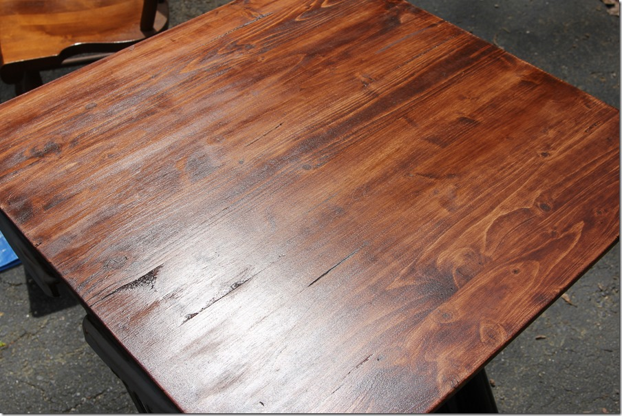 Timesaving Tips for Staining Wood Furniture (9 of 9) - here's a final look at the wood stain! This color is gorgeous and so easily achieved with a few layers of stain color.