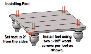 Step 6: Install Feet