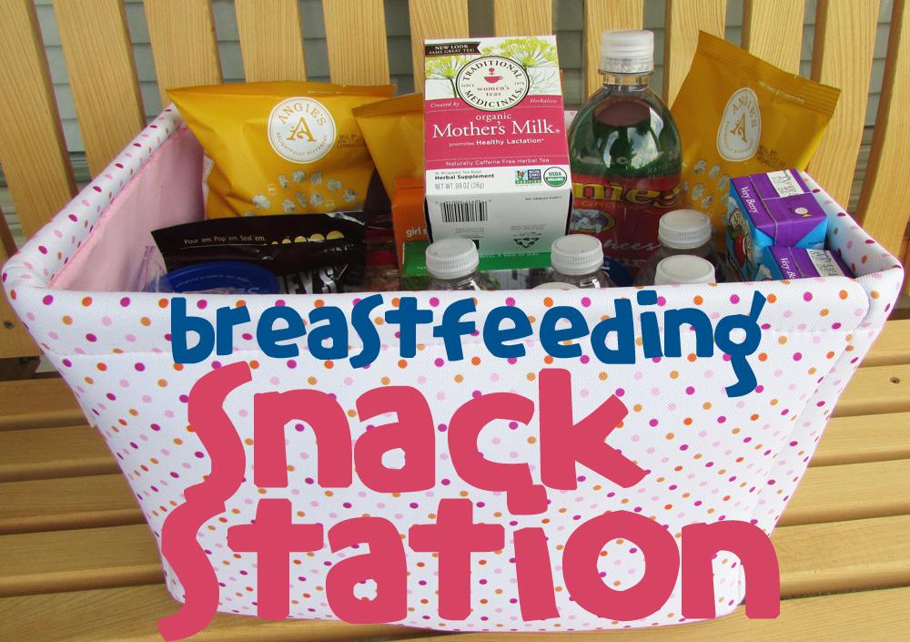 breastfeeding snack station basket