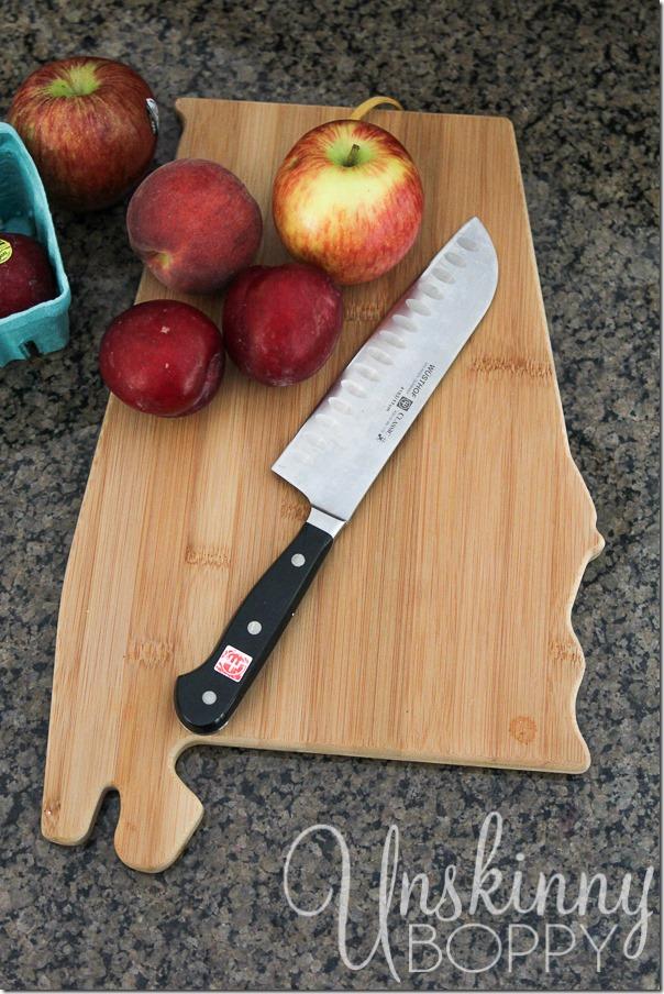 Alabama shaped cutting board