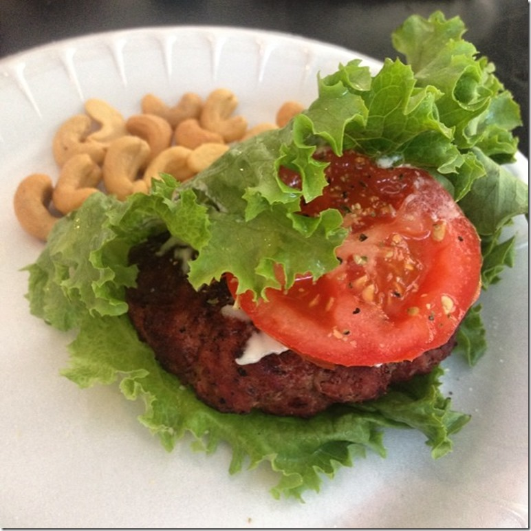 whole30 hamburger