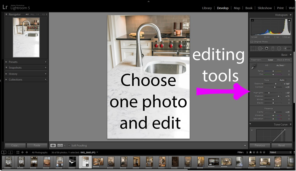 7. Edit all photos
