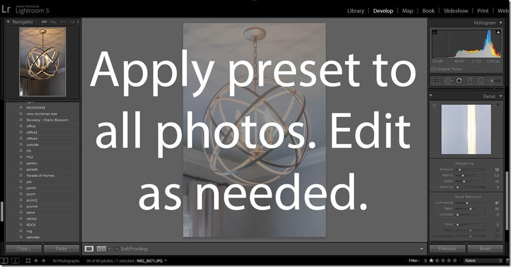 9. apply presets