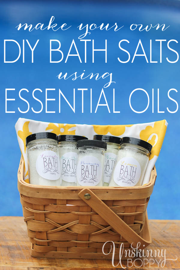 DIY Bath Salts using essential oils