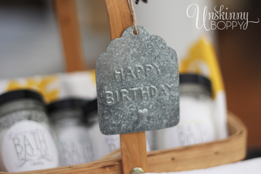 Embossed Happy Birthday tag