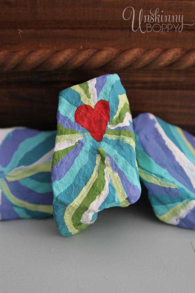 Painted alabama shaped rock