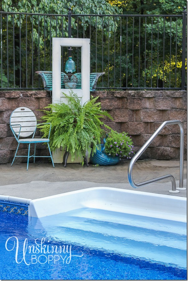 Pool patio decorating with old doors-9