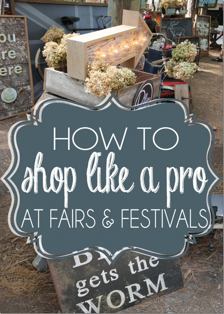 How to shop like a pro at fairs and festivals