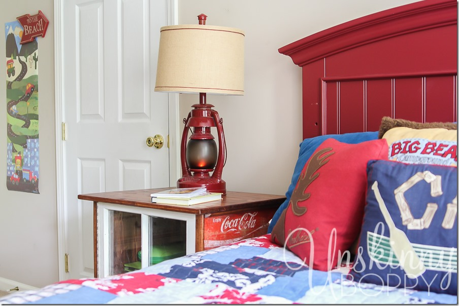 DIY night stands made from old Coca Cola crates-2