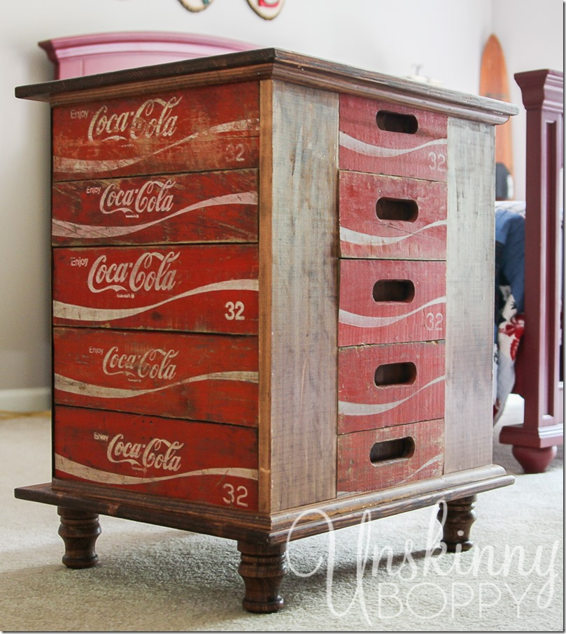 DIY night stands made from old Coca Cola crates-3