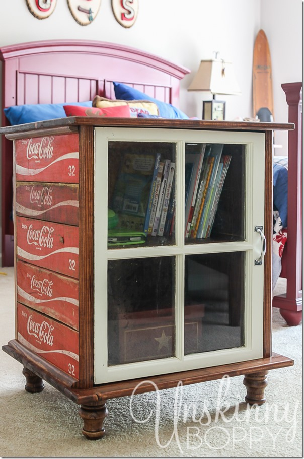 DIY night stands made from old Coca Cola crates-4