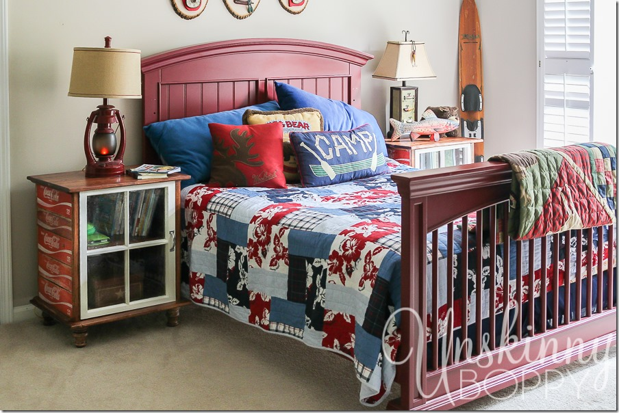 DIY night stands made from old Coca Cola crates-7