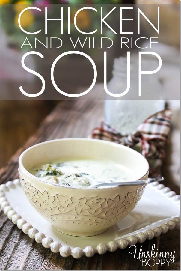 Homemade Chicken and Wild Rice Soup recipe