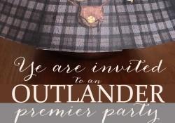 OUTLANDER PREMIER PARTY INVITATION