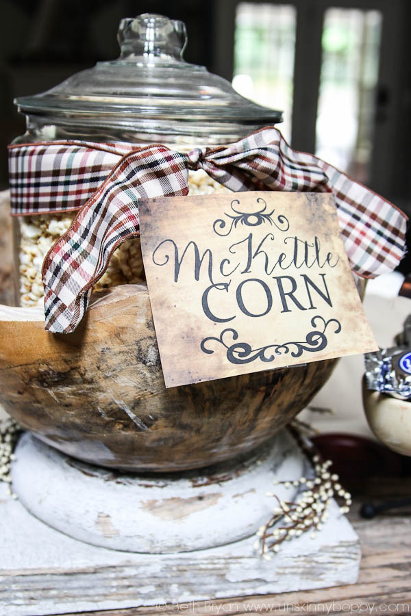 Outlander Party Ideas- McKettle Corn!