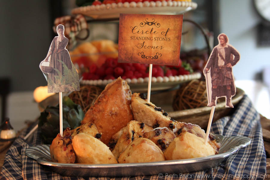 Outlander Party Ideas- Standing Scones