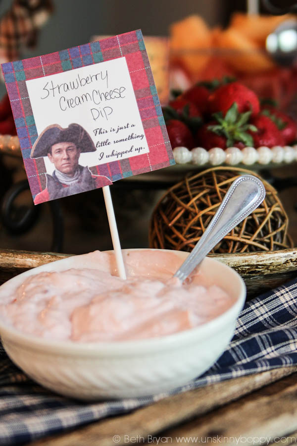 Outlander Party Ideas- Strawberry Whipped Dip