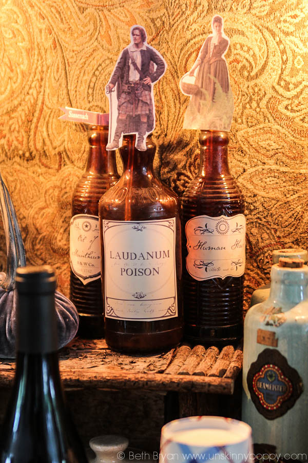 Poison bottles printables for Outlander Party
