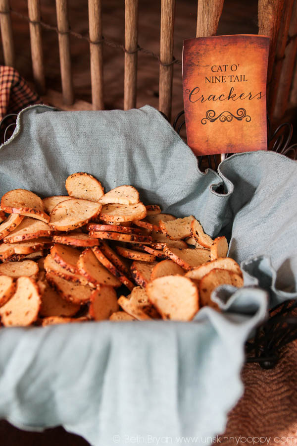 Outlander Party Food- Cat o Nine Tail Crackers