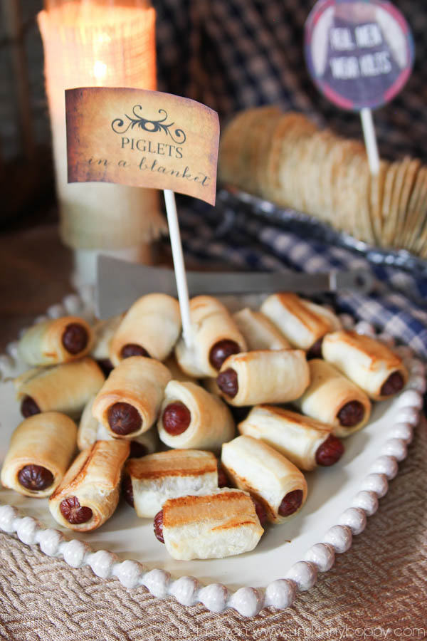 Outlander Party Ideas- Piglets in a blanket