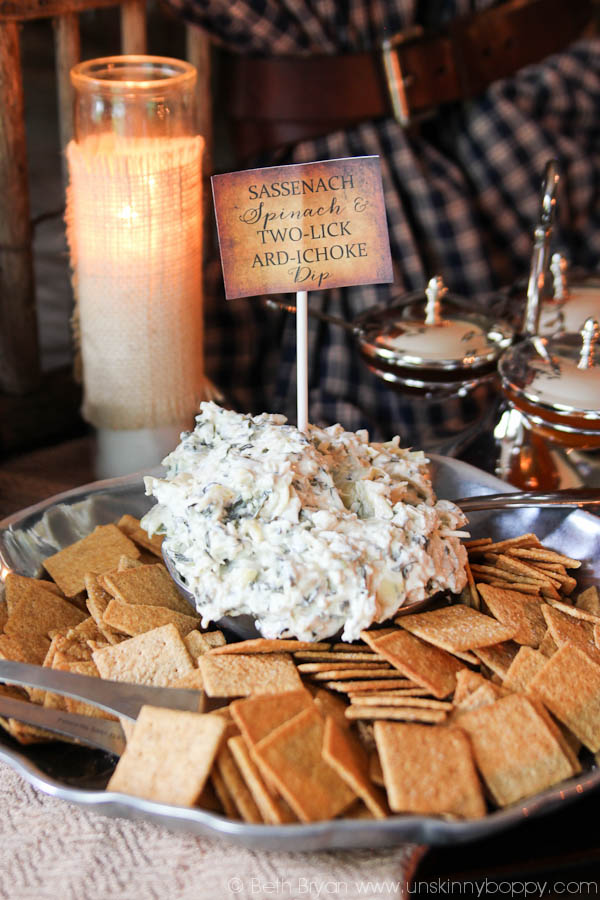 Outlander Party Ideas- Tulach Ard Artichoke dip
