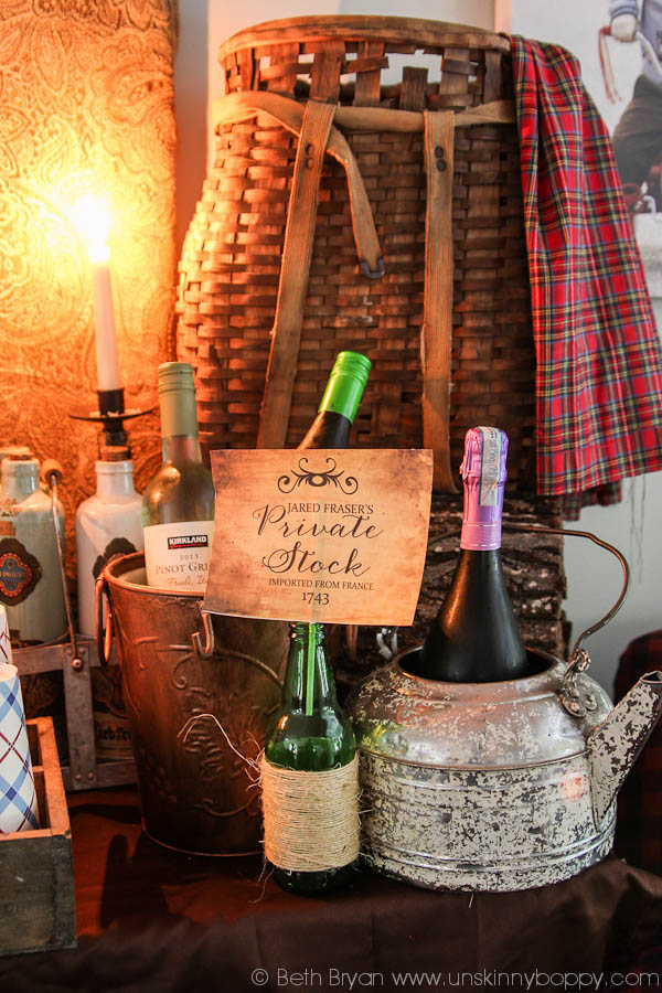 Outlander Party Ideas- Wine