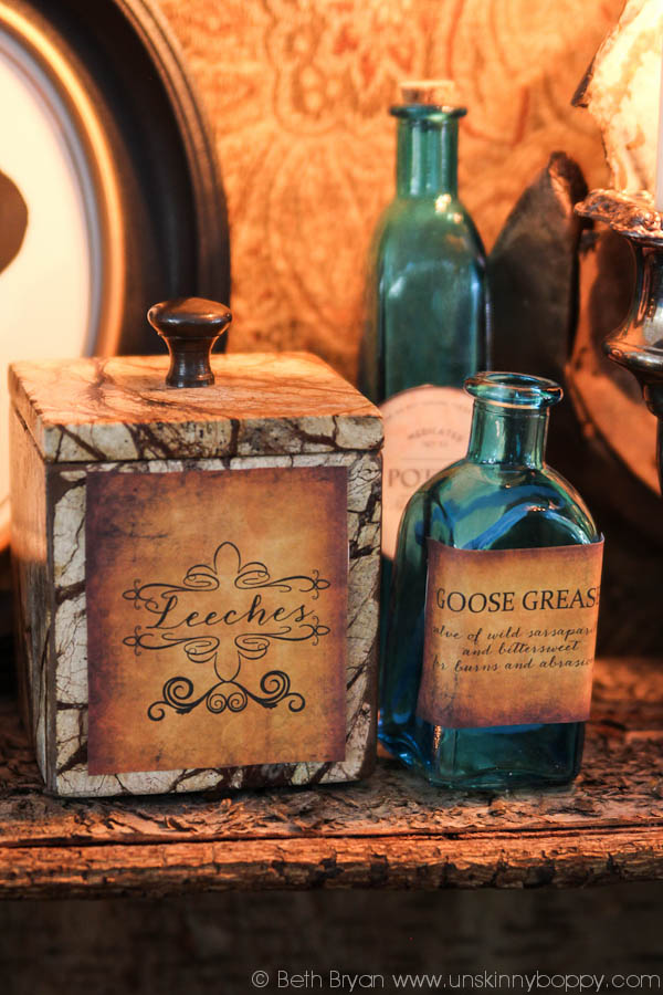 Outlander Party Decor Ideas- Leeches and Goose Grease