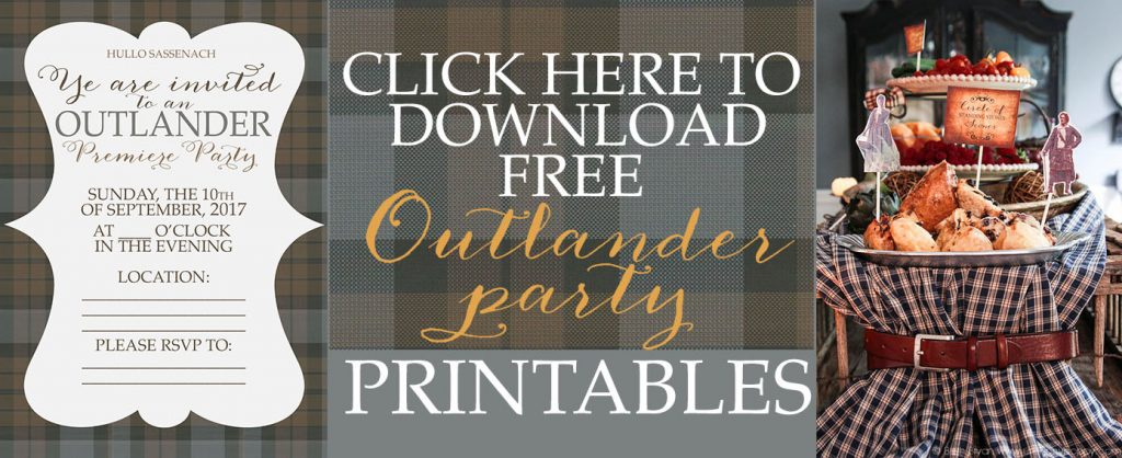 Free Outlander Party Printable Invitations