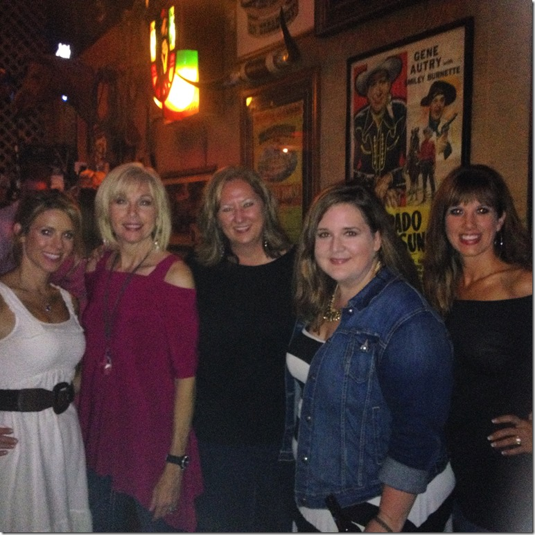 The ladies out for dinner in Nashville