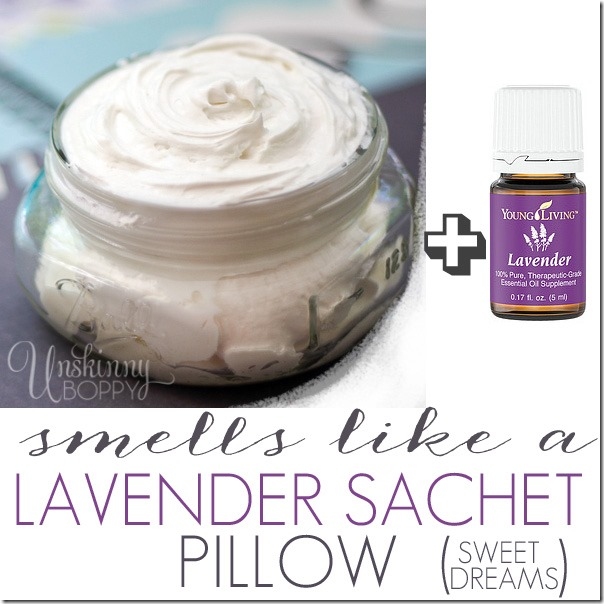 DIY body butter made with lavender essential oil