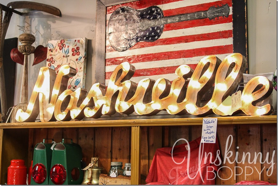 nashville is the best place for antiquing - you'll find little hidden treasures in any shop you go into.