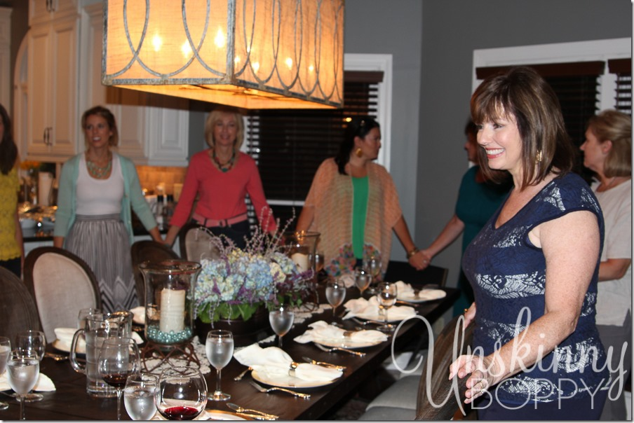 A special dinner in the home of Meryll and Dan Elkins in Nashville, TN