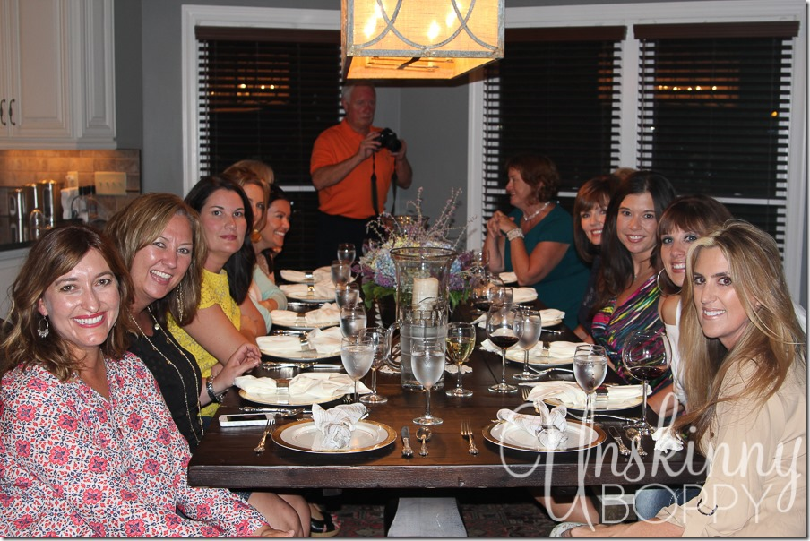 A fabulous ladies' night dinner at the home of Meryll and Dan Elkins in Nashville, TN