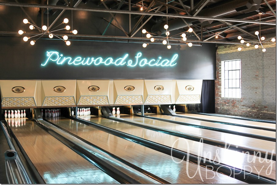 Pinewood Social in Nashville also has a bowling alley. Perfect start to a girls weekend!