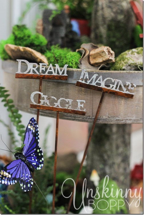 Woodland Fairy Garden from a Three Tiered Stand-15