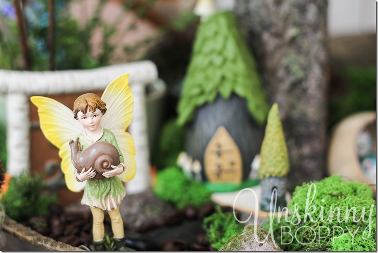 Woodland Fairy Garden from a Three Tiered Stand-16