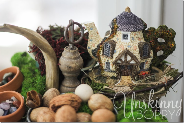 Woodland Fairy Garden from a Three Tiered Stand-2