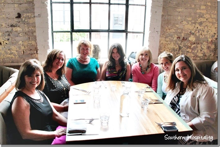 The girls at lunch at Pinewood Social in Nashville, TN